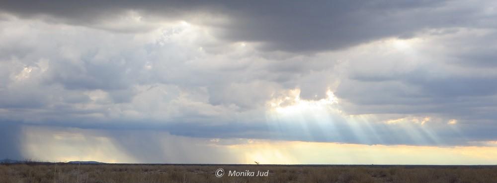 Regen im Etoscha Nationalpark
