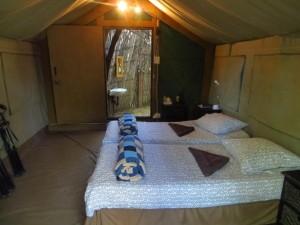 fest aufgebaute Safarizelte in Namibia