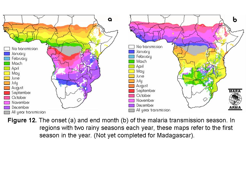 Malaria in Namibia - saisonales Risiko