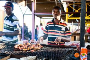 Kapanaplatz in Windhoek, Namibia - traditionell Essen