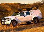 Namibia Standardfahrzeug - Nissan Doppelkabine, hier mit 2 Dachzelten
