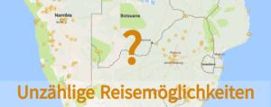 Südliches Afrika Kartenausschnitt - Google Maps Screenshot