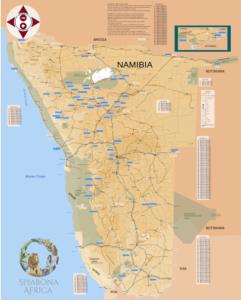 Straßenkarte für Namibia von Siyabona Africa