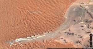 Weg von Sesriem nach Sossusvlei - Quelle und Rechte: Google Maps