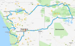 Namibia Reiseroute 28 Tage