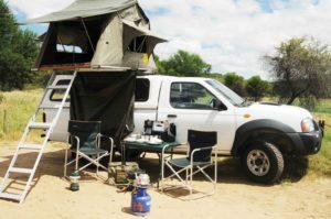 Mietwagen in Namibia mit Camping-Ausstattung für 2 Personen