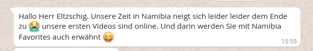 Weiterempfehlung von Namibia Favorites durch unsere Kunden