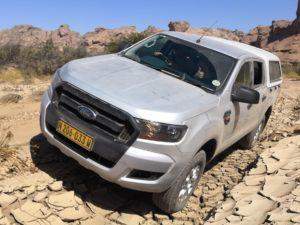 Ford Ranger Nahansicht - Unterwegs abseits der Straßen im Canyon