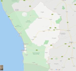 Landkarte Erongo-Region Namibia