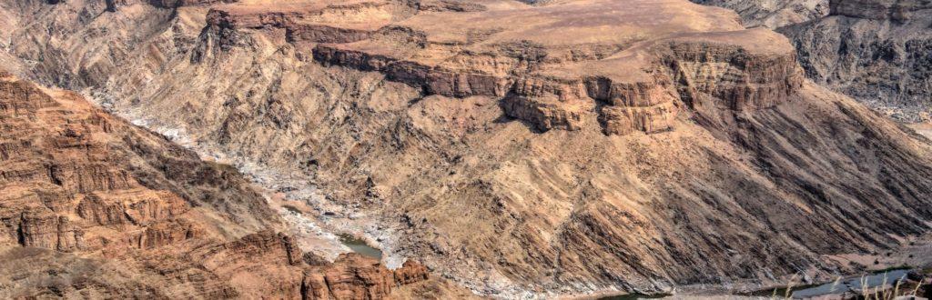 Windungen des Fish River Canyon Namibia aus der Luft