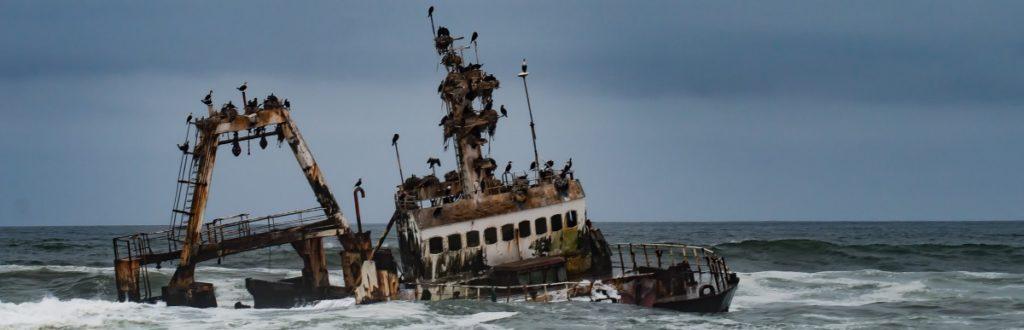 Zeila - Schiffswrack an der Skelettküste Namibias
